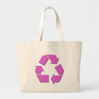 Pink Recycle Symbol Jumbo Tote Bag