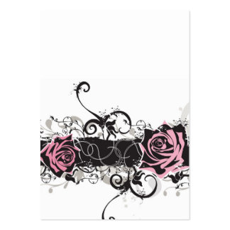 Pink roses Profile Card Pack Of Chubby Business Cards