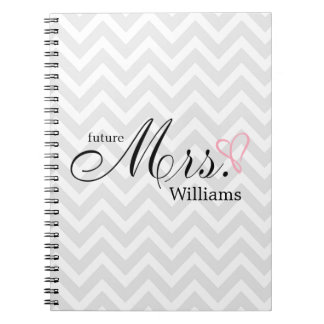 Pink Scribbled Heart Future Mrs Wedding Planner Note Book