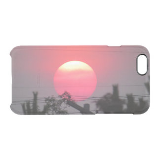 Pink Summer Sunset Clear iPhone 6/6S Case