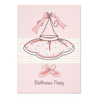 Pink Tutu Birthday Party Invitation