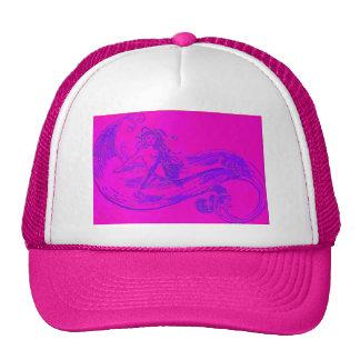 pink wave mermaid trucker hat
