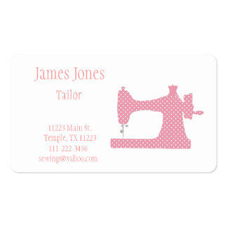 Pink & White Sewing Machine Tailor Business Card