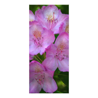 Pinkish purple Rhododendron bookmarks Customised Rack Card