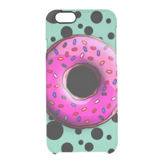 Pinky Donut with colorful sprinkles + your ideas Clear iPhone 6/6S Case