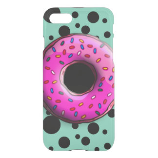 Pinky Donut with colorful sprinkles + your ideas iPhone 7 Case