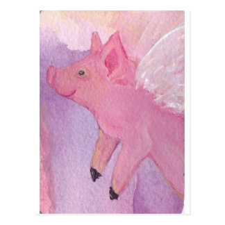 Pinky the Flying Pig - When Pigs Fly Postcard
