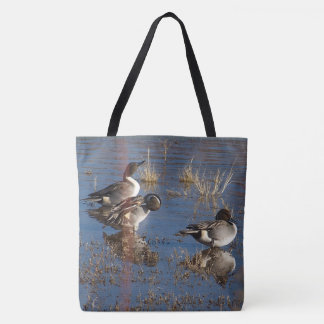 Pintail Duck Birds Wildlife Animals Tote Bag