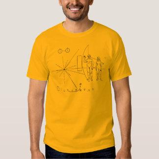 Pioneer 10 Gold Plaque Tshirt