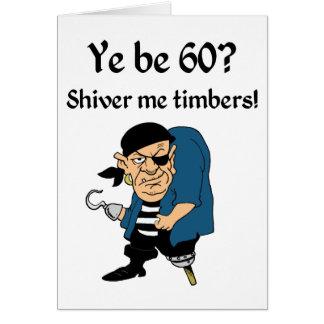 Pirate 60th Birthday Greeting Card