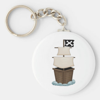 Pirate Birthday Party Basic Round Button Key Ring