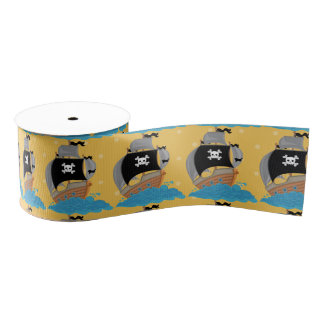 Pirate Party * choose background color Grosgrain Ribbon