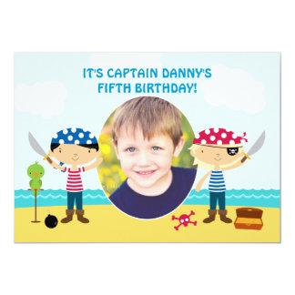 Pirate Photo Birthday Invitation