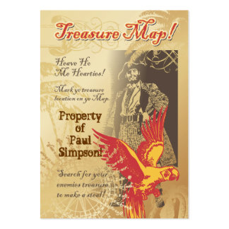 Pirate Treasure Map Kid's Card Game Pack Of Chubby Business Cards