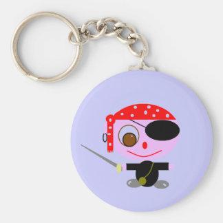 pirates basic round button key ring
