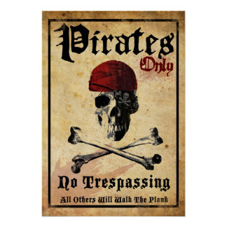 Pirates Only Poster