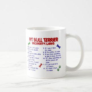PIT BULL TERRIER Property Laws 2 Basic White Mug