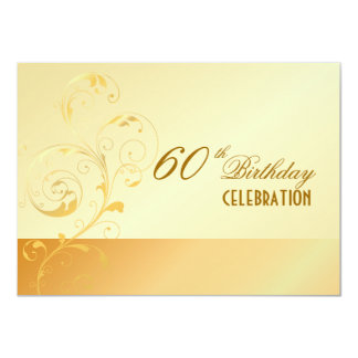 PixDezines 60 Birthday/filigree/DIY your event.. 11 Cm X 16 Cm Invitation Card