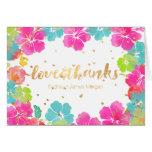 PixDezines Aloha Hibiscus Leis/Thank You Greeting Card