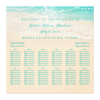 PixDezines Chandelier/Beach/Seating Chart Gallery Wrapped Canvas