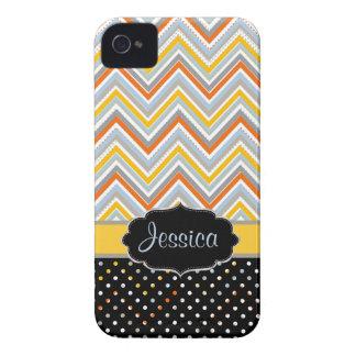 PixDezines Chevron oj,yellow/DIY background color iPhone 4 Case-Mate Case