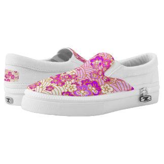 PixDezines Kimono/Pink/fuschia/Sakura/Waves Printed Shoes