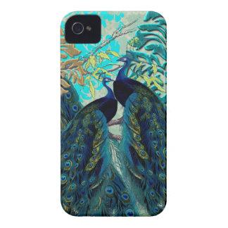 PixDezines Psychedellic Peacocks+damask Case-Mate iPhone 4 Case