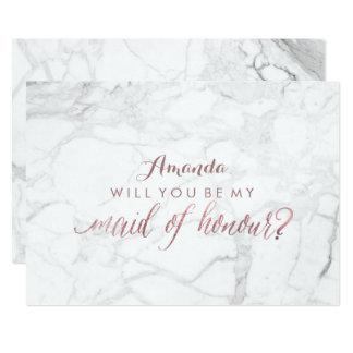 PixDezines Rose Gold Will You Be My Maid.. 13 Cm X 18 Cm Invitation Card