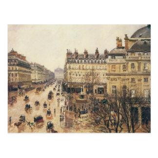 Place du Theatre Francais, Paris Rain by Pissarro Postcard