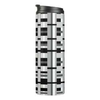 Plaid in Black White & Gray Thermal Tumbler