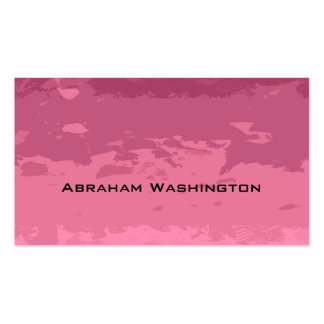 Plain and Simple Business Card  - torn paper Reds