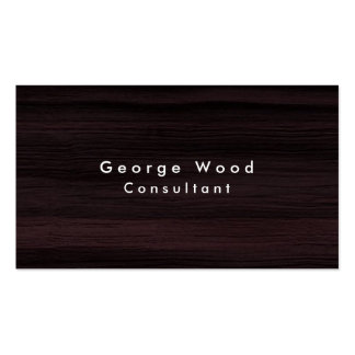 Plain Elegant Brown Wood Texture Minimalist Pack Of Standard Business Cards