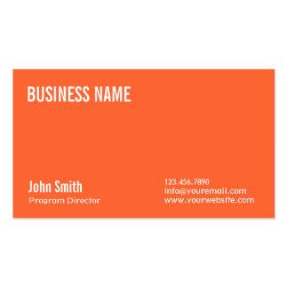Plain Orange Program Director Business Card