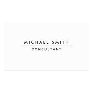 Plain White Professional Elegant Modern Simple Pack Of Standard Business Cards