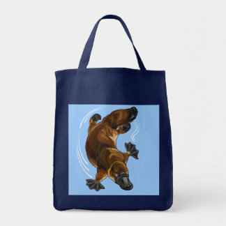 platypus grocery tote bag