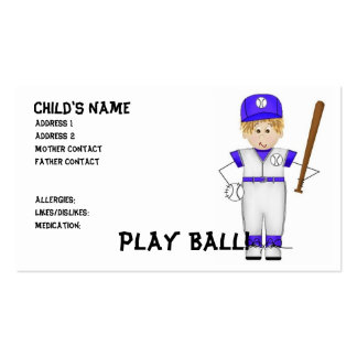 Play Ball! Mommy Cards Pack Of Standard Business Cards
