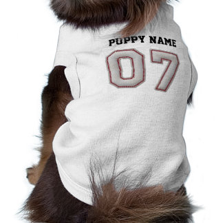 Player Number 07 - Cool Baseball Stitches Sleeveless Dog Shirt