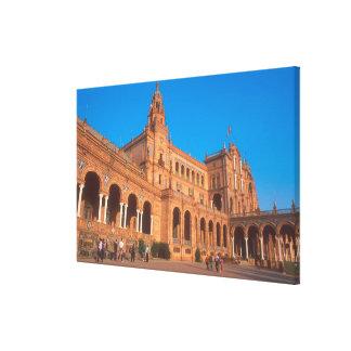 Plaza de Espana in Seville, Spain. Stretched Canvas Prints