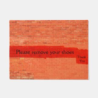 """Please remove your shoes. Thank you"" Fun Unique Doormat"