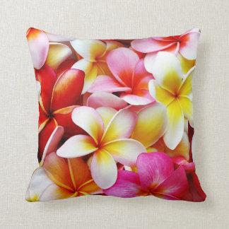 Plumeria Frangipani Hawaii Flower Customized Cushions