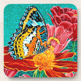 Poised Butterfly I Drink Coasters