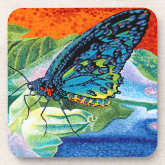 Poised Butterfly II Beverage Coaster