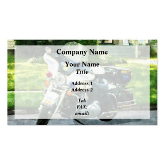Police Motorcycle Pack Of Standard Business Cards