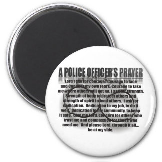 POLICE OFFICERS PRAYER 6 CM ROUND MAGNET
