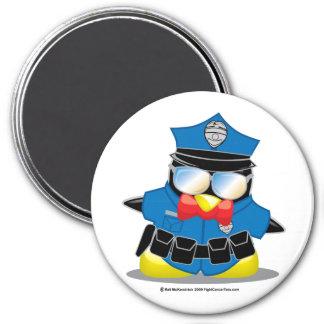 Police Penguin 7.5 Cm Round Magnet