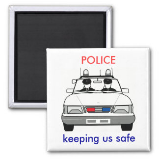 Police Square Magnet