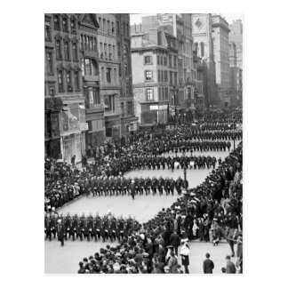 Policemen's Parade on 5th Ave, NYC: 1900 Postcard