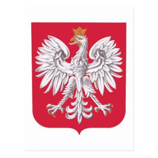 Polish Eagle Shield Postcard