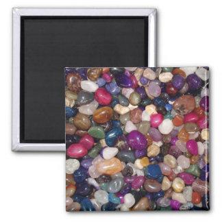 Polished Stones Square Magnet
