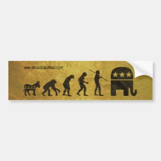 Political Evolution Bumper Sticker